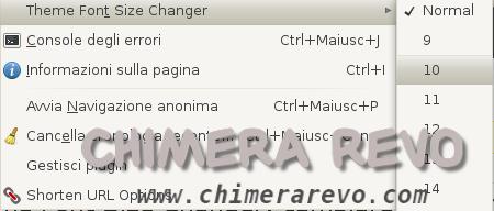 Firefox Theme Font Size Changer: cambiare rapidamente la dimensione