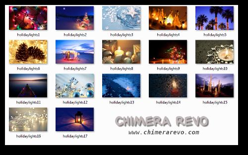 tema natale holiday lights windows 7