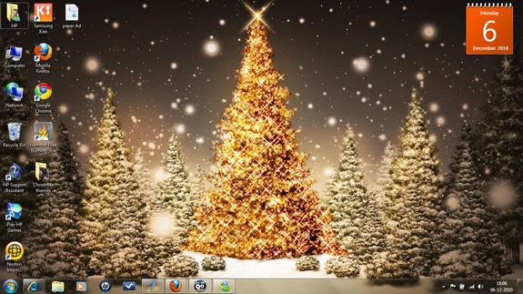 Sfondi Natalizi Per Outlook.9 Fantastici Temi Dedicati Al Natale Per Windows 7 Chimerarevo