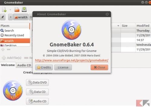 GnomeBaker Simple CD_DVD Burner
