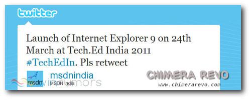 lancio internet explorer 9 24 marzo