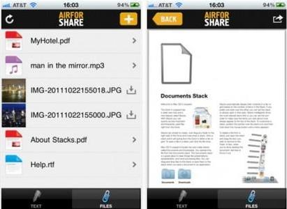 airforshare apple ipad iphone windows