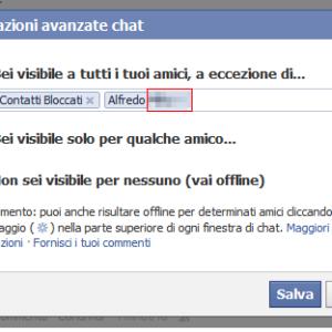 contatti bloccati chat facebook