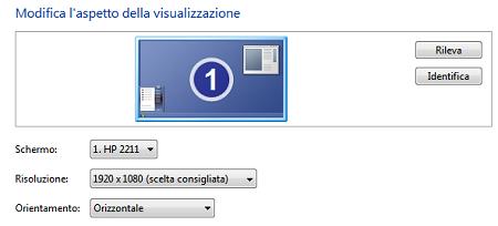 modifica schermo