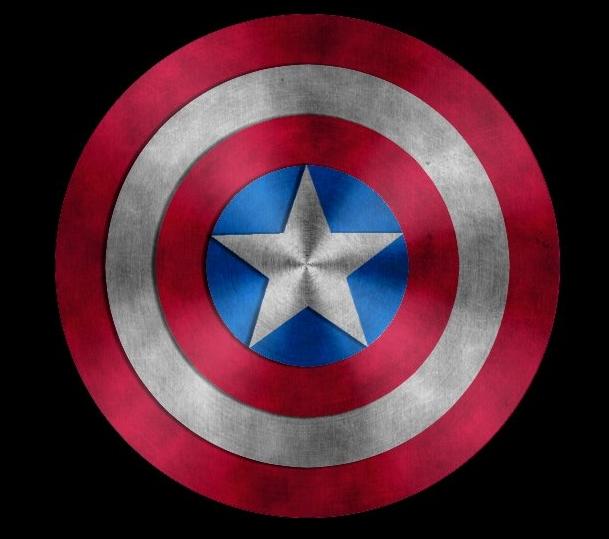 disegni da colorare scudo capitan america