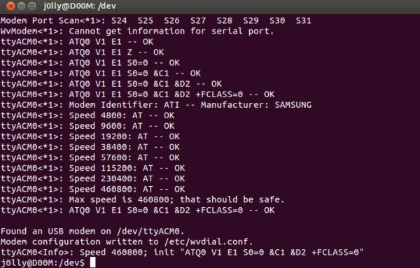 Guida: USB Tethering del Samsung Galaxy S su Ubuntu