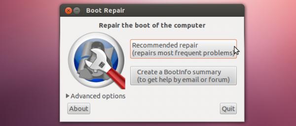 boot repair menu