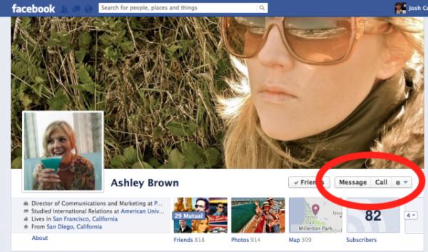 facebook call button