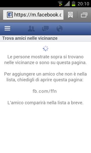 facebook trova amici nelle vicinanze1