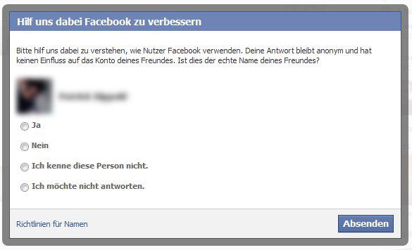 facebook caccia pseudonimi