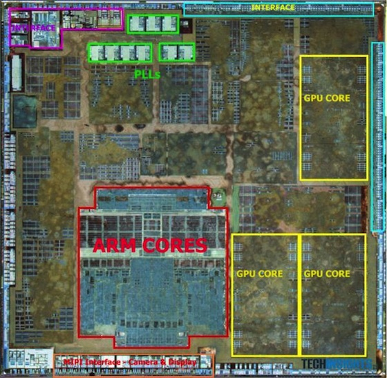 a6 chip layout