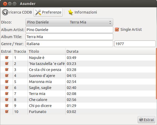 Come convertire CD audio in mp3 - Asunder