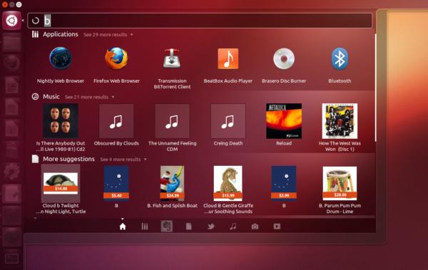 ubuntu 12.10 unity shopping lens
