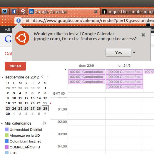 ubuntu 12.10 webapp calendar