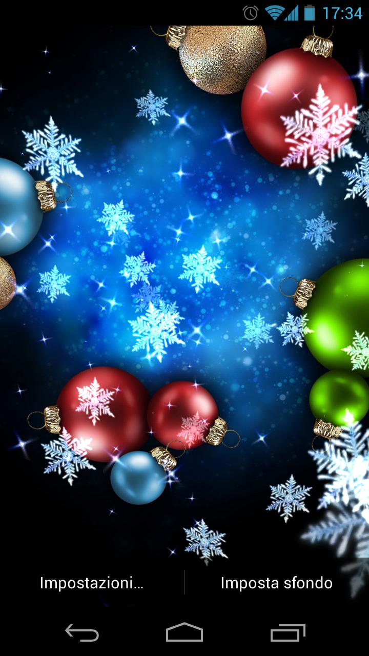 Snow stars addobbiamo per natale il nostro android con un for Sfondi natale 3d