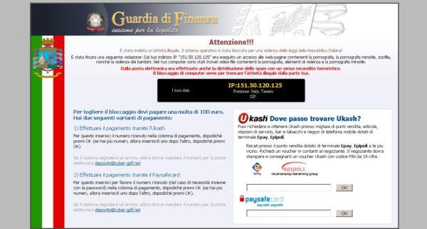 guardia di finanza virus
