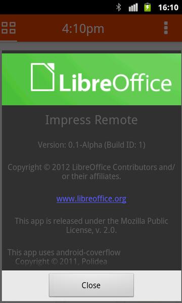 Informazioni sul software: v0.1-Alpha
