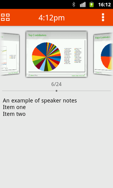 Impress Remote: note del relatore