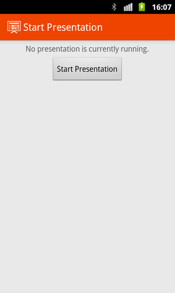 Impress Remote: avvia presentazione