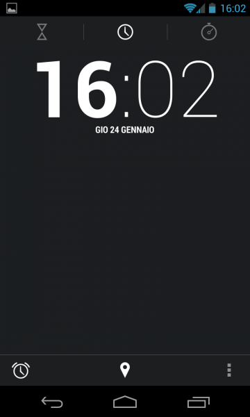 Orologio Android 4.2.1 Jelly Bean