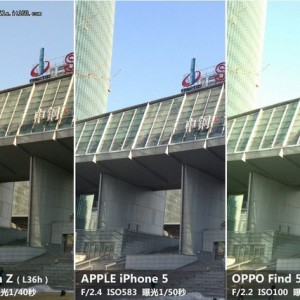 Sony Xperia Z vs iPhone 5 vs Oppo Fond 5 immagine3