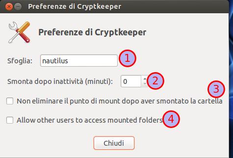 cryptkeeper-impostazioni