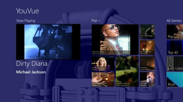 YouVue, il miglior modo per trovare video musicali con Windows 8