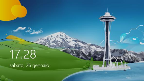 schermata di blocco windows 8