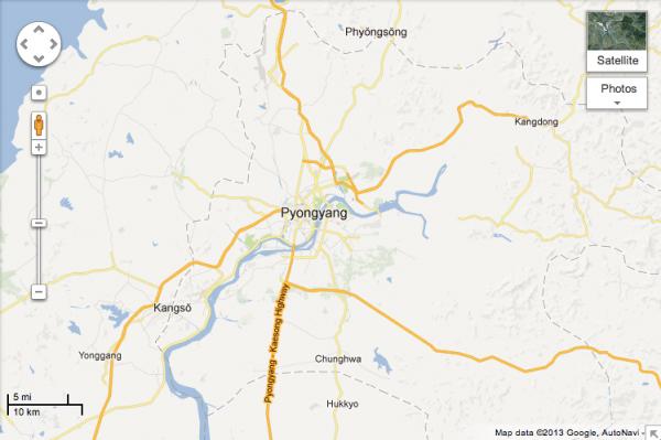 Google Maps corea nord