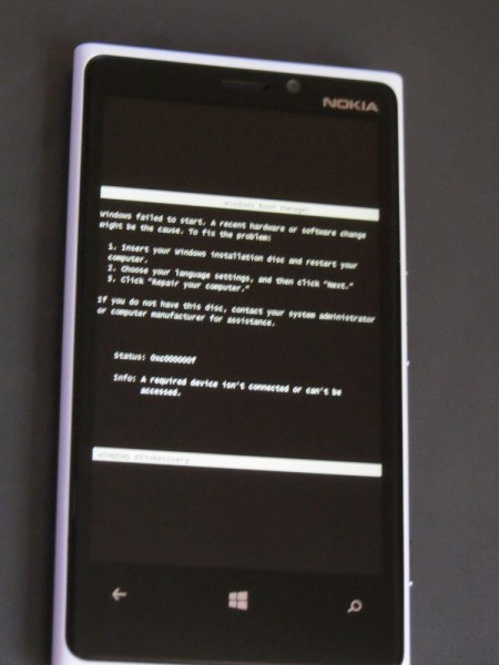 windows phone error