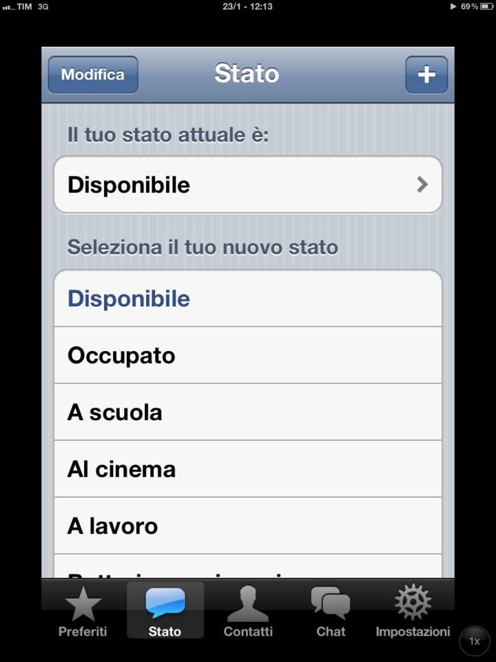 WhatsApp su iPad