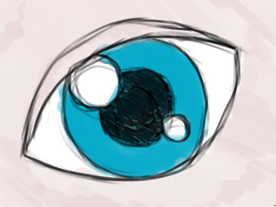 spesso Gimp Tutorial: creare un occhio manga con la tavoletta grafica  OT41