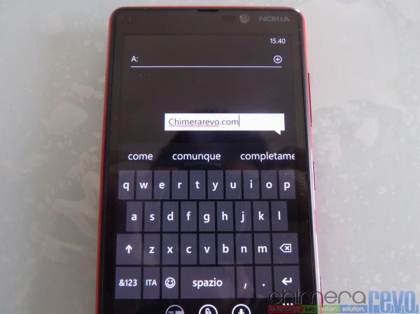 tastiera lumia 820