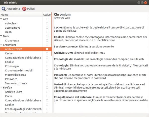 bleachbit guida ubuntu 13.04