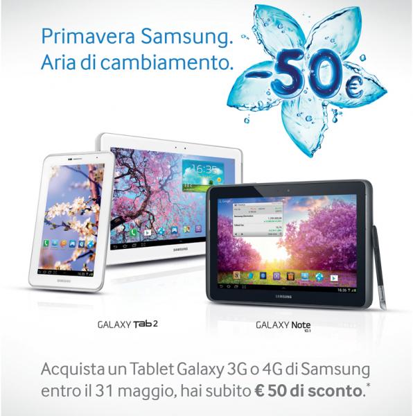 samsung sconto 50 euro tablet
