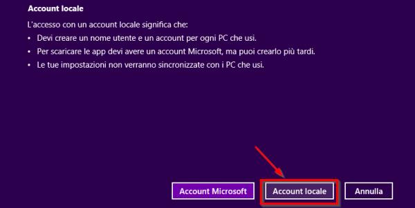Creazione account utente locale - 2