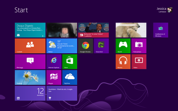 start screen - Guida completa a Windows 8