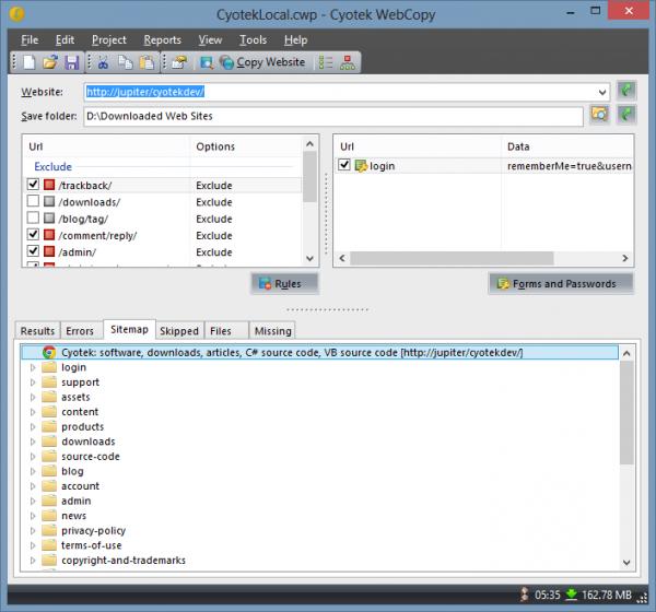 interi siti web con linux