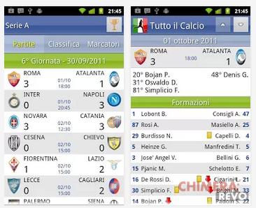 Le migliori applicazioni Android per il    calcio! - ChimeraRevo