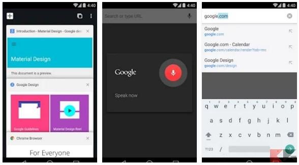 Migliori browser per Android - Chrome