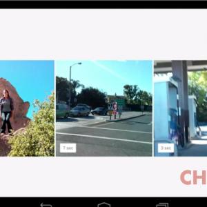 Google+ video timeline