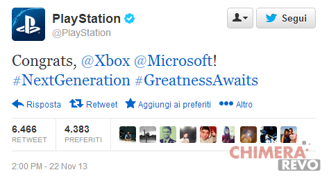 Twitter_ PlayStation_Congrats_Xbox_one