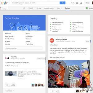 Google Plus explorer