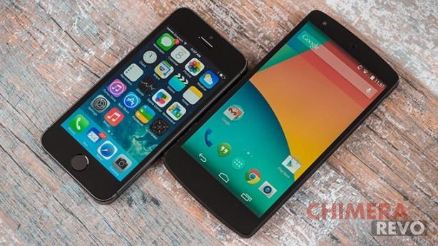 iPhone 5S - Nexus 5