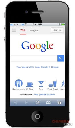 iphone google mobile search