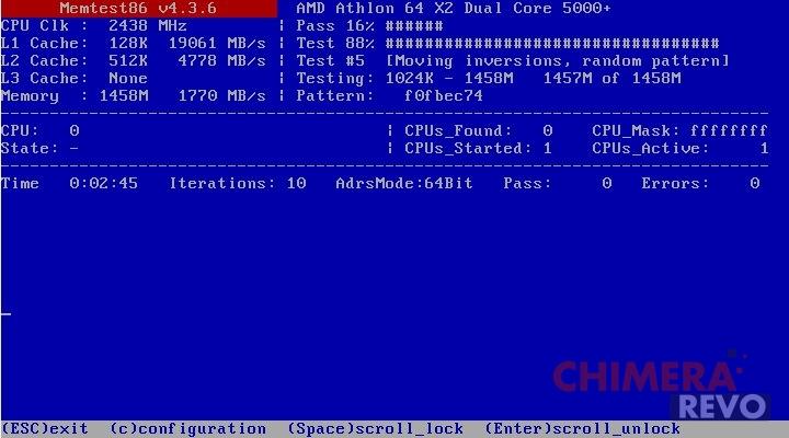 Verificare salute RAM - MemTest86