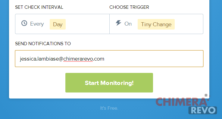Ricevere una email quando cambia una pagina web