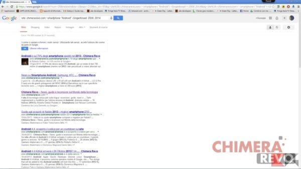 GUida a google - esempio ricerca