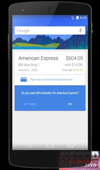 Google Now pagamento bollette