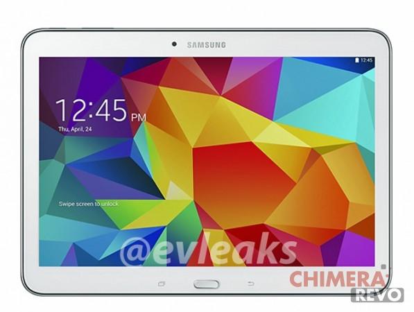 Samsung Galaxy Tab 4 10.1 render bianco